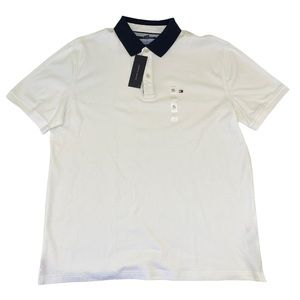 Tommy Hilfiger Custom Fit Polo in White X Large